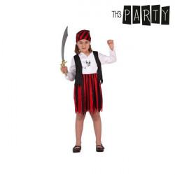 Disfraz para Niños Pirata Rojo 3-4 Años
