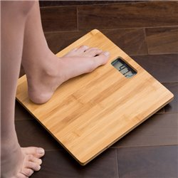 Bamboo Digital Bathroom Scales 180 kg