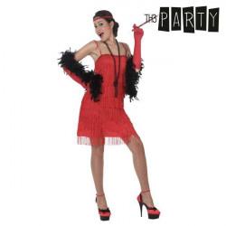Costume per Adulti Charleston Rosso XL