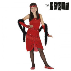 Costume per Bambini Charleston Rosso 5-6 Anni