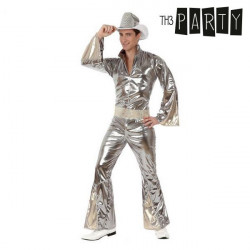 Costume per Adulti Disco Argento M/L
