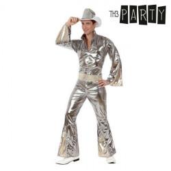 Costume per Adulti Disco Argento XS/S