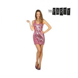 Costume per Adulti Disco Rosa XL