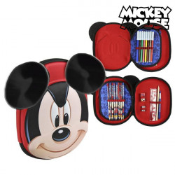 Triple Pencil Case Mickey Mouse 58393 Red