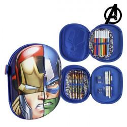 Triple Pencil Case The Avengers 58430 Navy blue