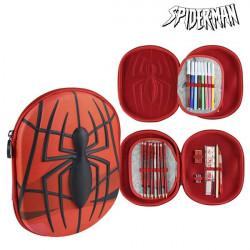 Dreifaches Federmäppchen Spiderman 58409 Rot