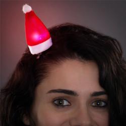 Pinza per i Capelli con LED Cappello Babbo Natale