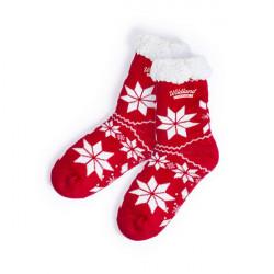 Non-slip Christmas Socks 145918 (one size) Red
