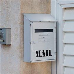Mail Weißer Postkasten aus Metall