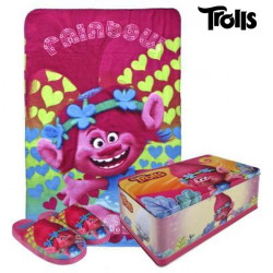 Metal Box with Blanket and Slippers Trolls 70791 (3 pcs) 30-31