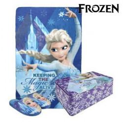 Caixa Metálica com Manta e Chinelos Frozen 70795 (3 pcs) 32-33