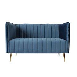 Sofá de 2 Plazas Art Deco Lines (126 x 73 x 78 cm) Gris
