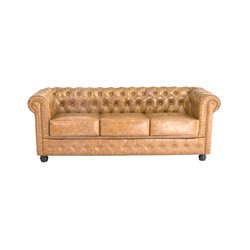 Divano Chesterfield a 3 Posti (200 x 80 x 72 cm) Marrone