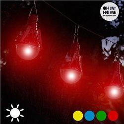 Lâmpada Solar (conjunto de 4) Vermelho
