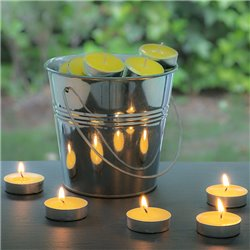 Citronella Candles with Decorative Bucket (50 Candles)