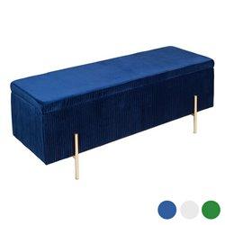 Coffre Art Deco (110 x 40 x 42 cm) Bois de pin Bleu