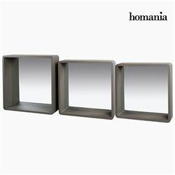 Jogo de Espelhos Cinzento (3 Pcs)