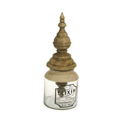 Glasbehälter Elixir Mango-holz (17 X 17 x 46 cm)
