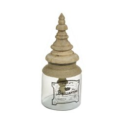 Glasbehälter Brillantine Mango-holz (17 X 17 x 38 cm)