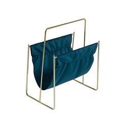 Magazine rack Brass Velvet (40 X 26 x 48 cm)