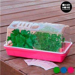 Mini Greenhouse for Seedbeds Pink