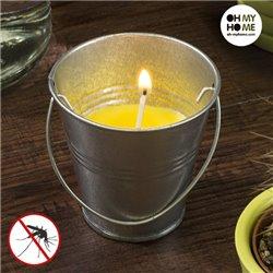 Citronella Kerze im Eimer