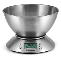 Tristar KW-2436 balança de cozinha Balança de cozinha eletrónica Inox Redondo