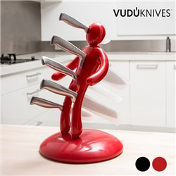 Suporte para facas e conjunto de facas VUDÚKNIFES Vermelho