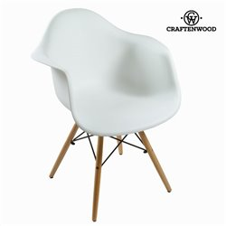Chaise de Salle à Manger ABS Blanc by Craftenwood