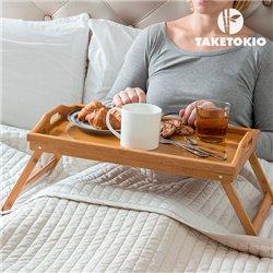 Bambus Tablett mit Klappbaren Beinen