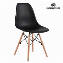 Cadeira de Sala de Jantar ABS Preto by Craftenwood