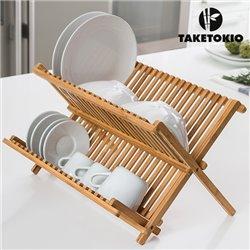 Abtropfgestell aus Bambus