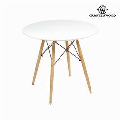 Table Mdf Bois de hêtre Blanc (80 x 80 x 75 cm) by Craftenwood