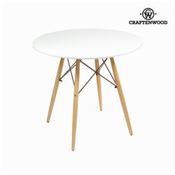 Tisch Mdf Buchenholz Weiß (80 x 80 x 75 cm) by Craftenwood