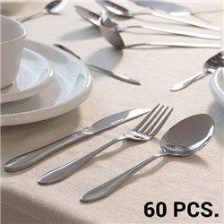 Conjunto de Cutelaria em Aço Inoxidável (60 peças)