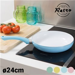 Retro style Frying Pan (24 cm) Yellow