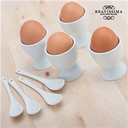 Eierbecher mit Löffeln (8 Stück)