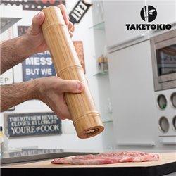 Molinillo de Pimienta y Sal de Bambú TakeTokio
