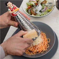 Küchenreibe aus Edelstahl mit Figur