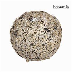 Bola flor y mariposa oro envej - Colección Art & Metal by Homania