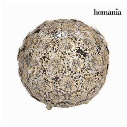 Flor dourada e bola borboleta - Art & Metal Coleção by Homania