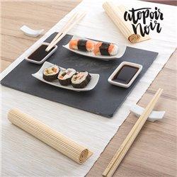 Sushi Set with Slate Tray Atopoir Noir (11 pieces)