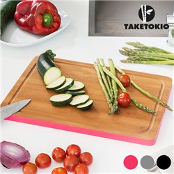 TakeTokio Rectangular Bamboo Chopping Board Grey