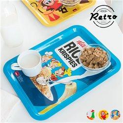 """Tabuleiro Metálico Vintage Kellogg's """"Rice Krispies"""""""