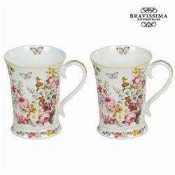 Conjunto de 2 chávenasss white bloom - Kitchen's Deco Coleção by Bravissima Kitchen