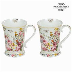 Lot de 2 tasses bloom white - Collection Kitchen's Deco by Bravissima Kitchen