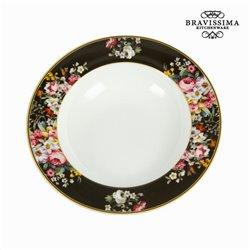 Assiette creuse (Ø 23 cm) Porcelaine - Collection Kitchen's Deco