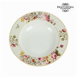 Assiette creuse bloom white - Collection Kitchen's Deco by Bravissima Kitchen