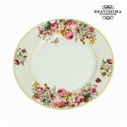 Bloom white dinner plate - Kitchen's Deco Collection by Bravissima Kitchen