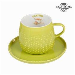 Tasse mit grünem teller - Kitchen's Deco Kollektion by Bravissima Kitchen